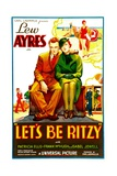LET'S BE RITZY, from left: Lew Ayres, Patricia Ellis, 1934. Prints