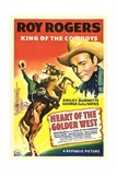 HEART OF THE GOLDEN WEST, Roy Rogers, 1942. - Tablo