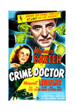 THE CRIME DOCTOR, US poster, Warner Baxter, Margaret Lindsay, 1943 Poster