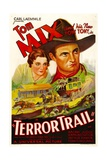 TERROR TRAIL, from left: Naomi Judge, Tom Mix, 1933. Prints