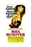 MRS. MINIVER, from left: Greer Garson, Walter Pidgeon, 1942. Art