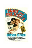 PRIDE AND PREJUDICE, from left: Laurence Olivier, Greer Garson, 1940. Posters