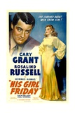 HIS GIRL FRIDAY, Cary Grant, Rosalind Russell, 1940 Posters