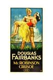 MR. ROBINSON CRUSOE, Douglas Fairbanks Sr., Maria Alba, 1932 Prints