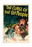 THE CURSE OF THE CAT PEOPLE, Simone Simon, Ann Carter, Julia Dean, 1944 Plakater