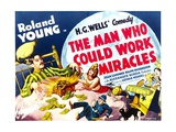THE MAN WHO COULD WORK MIRACLES, left: Roland Young, 1936. Print