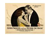 BEYOND THE ROCKS, l-r: Gloria Swanson, Rudolph Valentino on lobbycard, 1922. Posters