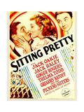 SITTING PRETTY, from left: Jack Oakie, Ginger Rogers, Jack Haley on midget window card, 1933. Poster