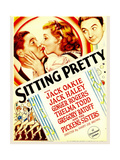 SITTING PRETTY, from left: Jack Oakie, Ginger Rogers, Jack Haley on midget window card, 1933. Poster