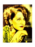 Norma Shearer on portrait poster/jumbo window card, ca. 1932. Prints