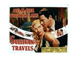 SULLIVAN'S TRAVELS, from left: Veronica Lake, Joel McCrea, 1941. Posters