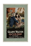 GOSSIP, from left: Ramsey Wallace, Albert Prisco, Gladys Walton, 1923. Prints