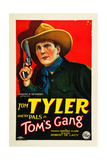 TOM'S GANG, Tom Tyler on poster art, 1927 Prints