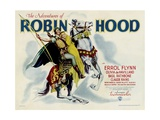 THE ADVENTURES OF ROBIN HOOD, from left: Errol Flynn, Olivia DeHavilland, 1938. Posters