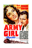 ARMY GIRL, US poster art, from left: Madge Evans, Preston Foster, 1938 Art