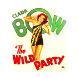 THE WILD PARTY, Clara Bow on window card, 1929. Print