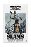 THE SLAMS, US poster, Jim Brown, 1973 Art