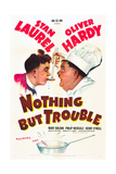 NOTHING BUT TROUBLE, Stan Laurel, Oliver Hardy (Laurel and Hardy), 1944 Prints