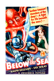 BELOW THE SEA, US poster art, Fay Wray, 1933 Art