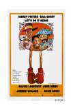 LET'S DO IT AGAIN, US poster, from left: John Amos, Jimmie Walker, Bill Cosby, 1975 Prints
