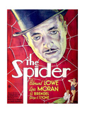 THE SPIDER, US poster art, top: Edmunde Lowe; bottom from left: John Arledge, Lois Moran, 1931 Posters