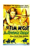 THE REVENGE RIDER, US poster art, from left: Billie Seward, Tim McCoy, 1935. Posters
