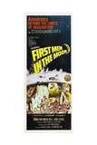 FIRST MEN IN THE MOON, US poster, from bottom left: Edward Judd, Martha Hyer, Lionel Jeffries, 1964 Prints