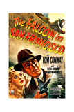 THE FALCON IN SAN FRANCISCO, US poster, from left: Rita Corday, Tom Conway, 1945 Prints