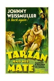 TARZAN AND HIS MATE, Johnny Weissmuller, Maureen O'Sullivan, 1934 Art