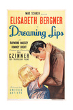 DREAMING LIPS, US poster art, from left: Elisabeth Bergner, Raymond Massey, 1937 Posters