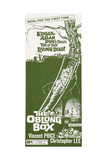 THE OBLONG BOX, insert poster, 1969 Print