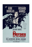 THE HEROES OF TELEMARK, British poster, Kirk Douglas, 1965 Prints