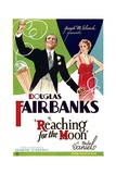 REACHING FOR THE MOON, from left: Douglas Fairbanks, Bebe Daniels, 1930. Posters