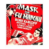 THE MASK OF FU MANCHU, from left on US poster art: Boris Karloff, Myrna Loy, 1932 Prints