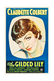 THE GILDED LILY, Claudette Colbert on US poster art, 1935. Poster