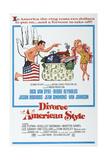 DIVORCE AMERICAN STYLE, US poster, Dick Van Dyke, Debbie Reynolds, 1967 Prints