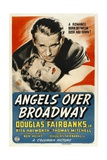 ANGELS OVER BROADWAY, from top: Douglas Fairbanks, Jr., Rita Hayworth, 1940 Print