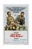 ALL THE WAY BOYS, US poster, from left: Terence Hill, Bud Spencer, 1972 Premium Giclée-tryk