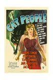 CAT PEOPLE, Simone Simon, 1942 Poster