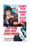 THE GIRL WHO HAD EVERYTHING, Elizabeth Taylor, Fernando Lamas, 1953 Posters