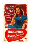 ONE RAINY AFTERNOON, (aka MATINEE SCANDAL), US re-release poster art, Ida Lupino, 1936 Prints