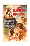 THE LAST OF THE MOHICANS, Binnie Barnes, Randolph Scott, Henry Wilcoxon, 1936 Prints