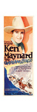 THE OVERLAND STAGE, Ken Maynard, 1927. Print