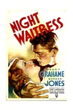 NIGHT WAITRESS, from left: Margot Grahame, Gordon Jones, 1936 Posters