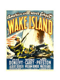WAKE ISLAND, window card, 1942. Print