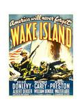 WAKE ISLAND, window card, 1942. Print