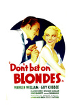 DON'T BET ON BLONDES, Warren William, Claire Dodd on midget window card, 1935 Posters