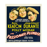 THE PASSIONATE PLUMBER, from left: Buster Keaton, Polly Moran, Jimmy Durante, 1932. Premium Giclee Print