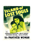 ISLAND OF LOST SOULS, from left: Richard Arlen, Kathleen Burke on window card, 1932 Prints