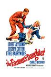 THE FARMER'S DAUGHTER, US poster, Joseph Cotten, Loretta Young, 1947 Posters
